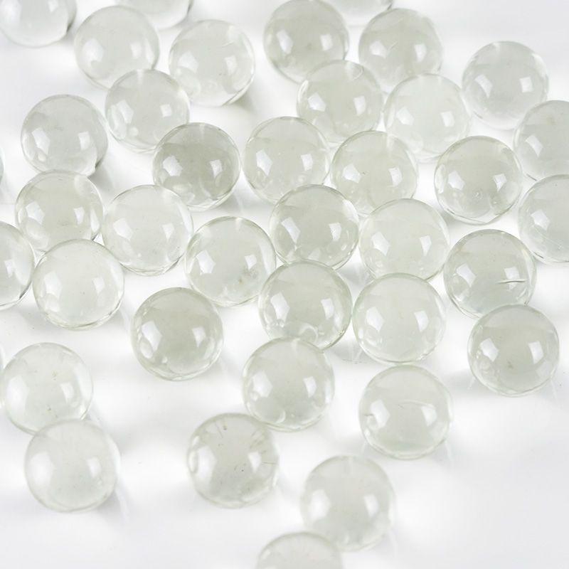 16X JUMBO LARG CLEAR GLASS MARBLE GEMS VASE FILLER CRAFT FLAT BACK 10oz