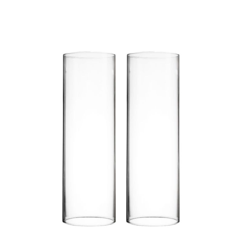10 X 3 Inch Open Ended Hurricane Candle Shade Chimney Tube Glass Vases Depot