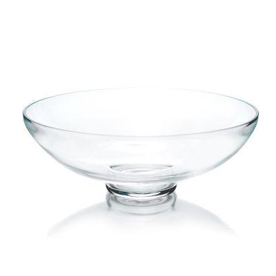 "Glass Footed Fruit Bowl H-4.5"" D-12"" Terrarium Kitchen Pedestal Centerpiece"