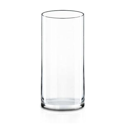 "9"" Decorative Glass Cylinder Vase"