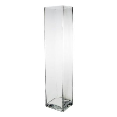 "24"" Decorative Square Glass Vase"
