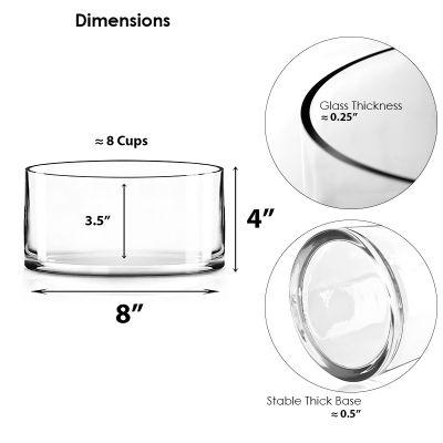 """8"""" Decorative Glass Cylinder Candle Holder Vase"""