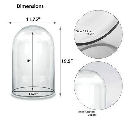 """19.5"""" Decorative Glass Dome Cloche Plant Terrarium Bell Jars"""