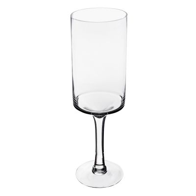 """Glass Pedestal Candle Holder. H-20"""", Opening-6"""", Pack of 2"""