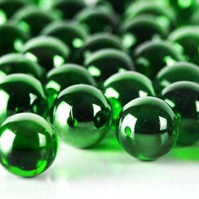 "Large 1"" Green Glass Marble Gemstone Vase Fillers"
