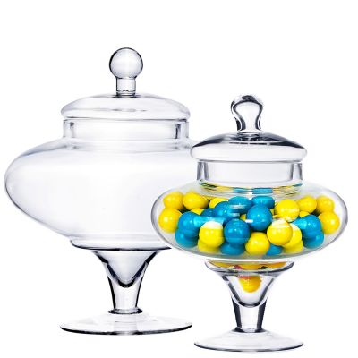 Glass Apothecary Jar Candy Buffet Container, Multiple Sizes