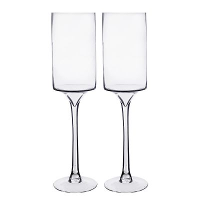 Long Stem Glass Candle Holders Glass Vases Depot