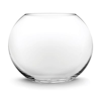 "14"" Clear Glass Bubble Round Shape Bowl"