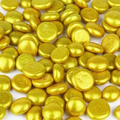Gold Flat Gemstone Bowl and Vase Fillers