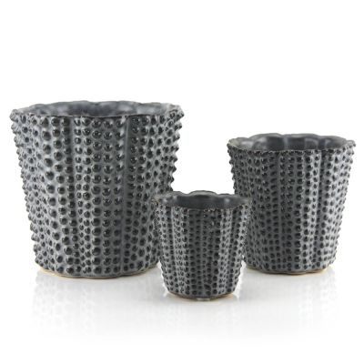 Gray Hobnail Ceramic Vase. Available in 3 Sizes (Free Shipping)
