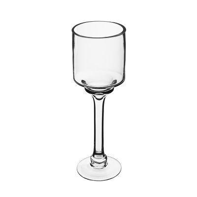 """12"""" Elegant Long Stem Glass Candle Holder"""