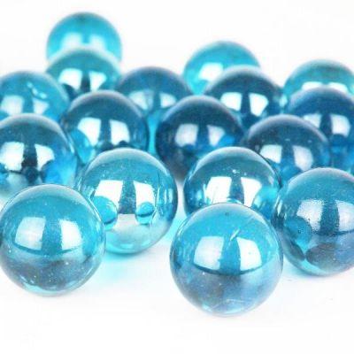 """Large 1"""" Light Blue Glass Marble Gemstone Vase Fillers"""