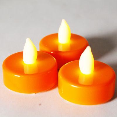 1.5 inch Flameless Orange LED Tealight Candles