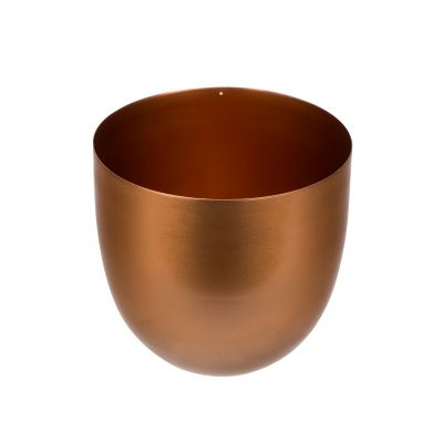 "5.5"" Handcrafted Copper Finished Iron Bowl Vase"