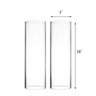 """10"""" Hurricanes Candle Shade Chimney with 3"""" Open Ended Tube"""