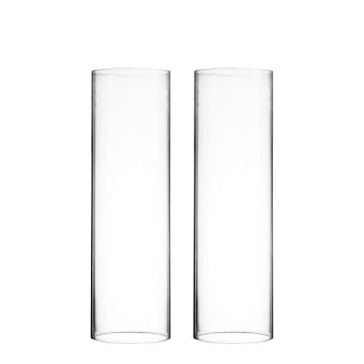 """H-14"""", D-4"""" Open-Ended Glass Hurricane Candle Shade Chimney Tube"""