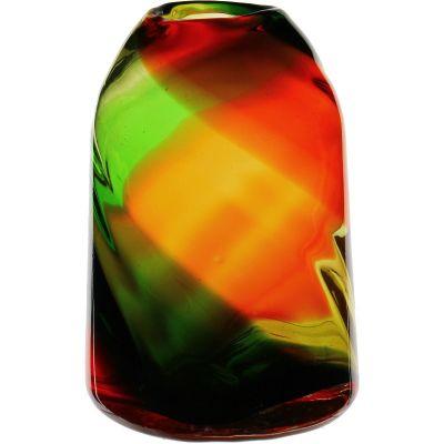 "15"" Decorative Olive Green Glass Vase"