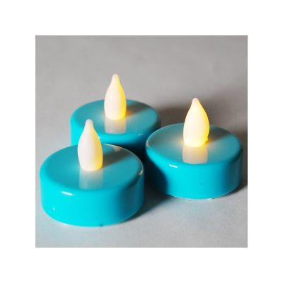 1.5 inch Flameless Blue LED Tealight Candles