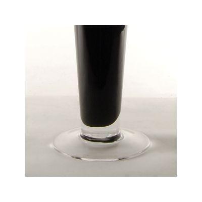 "20"" Black Glass Trumpet Centerpiece Vase"
