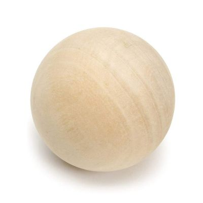 """3.5"""" Decorative Wood Ball for Craft"""