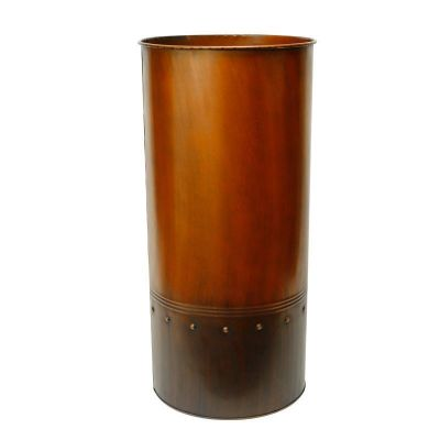 "25"" Garden Copper Zinc Metal Planter Cylinder Pot Vase"