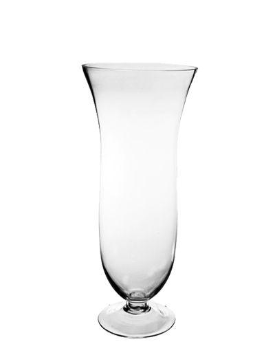 165 Flared Goblet Glass Hurricane Trumpet Vases Glass Vases Depot