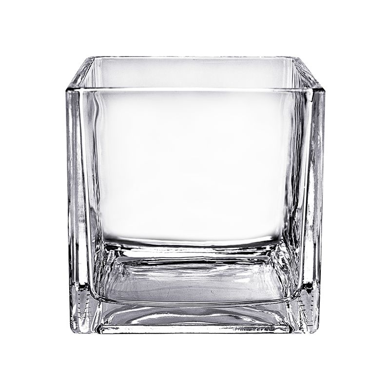 6 Decorative Cube Glass Vase Glass Vases Depot