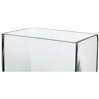 12 High End Rectangular Clear Glass Vase Glass Vases Depot