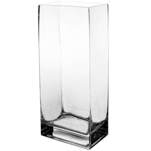 14 High End Rectangular Clear Glass Vase Glass Vases Depot