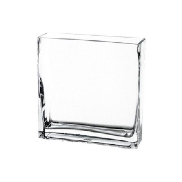 8 High End Rectangular Clear Glass Vase Glass Vases Depot