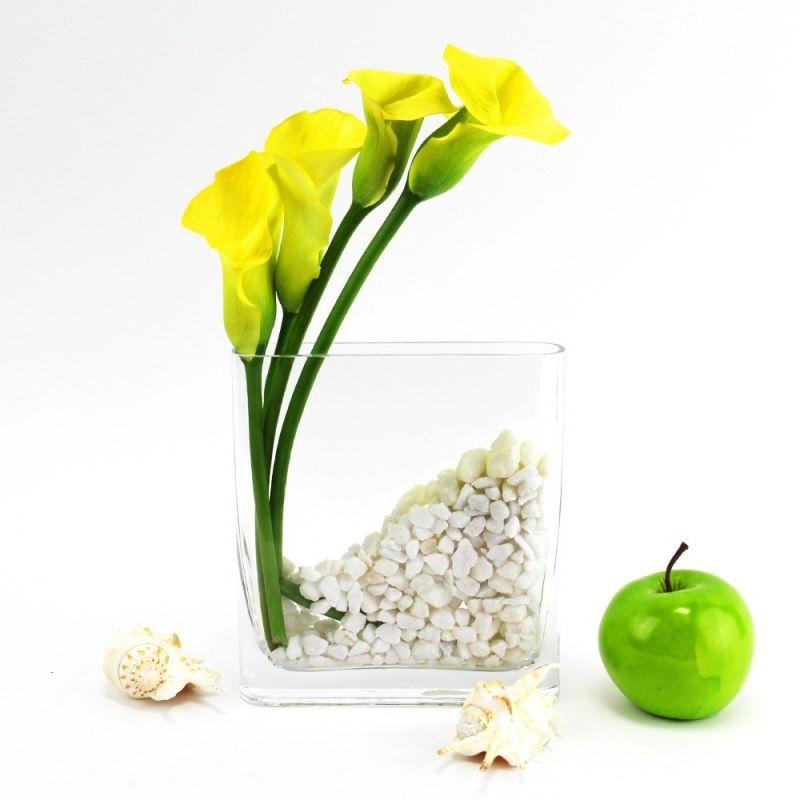75 Decorative Glass Retangular Vase With 725x275 Opening