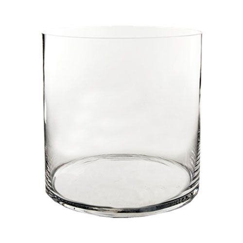 12 X 12 Inch Decorative Clear Glass Cylinder Vase Glass Vases Depot