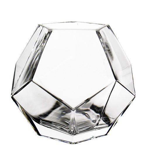 6 x 6 in   Geometric Faceted Gem Gl Terrarium Vase   Gl Vases ... Gl Cylinder Vase X on 5 x 5 cylinder vase, 5 x 24 cylinder vase, 3 x 5 cylinder vase,