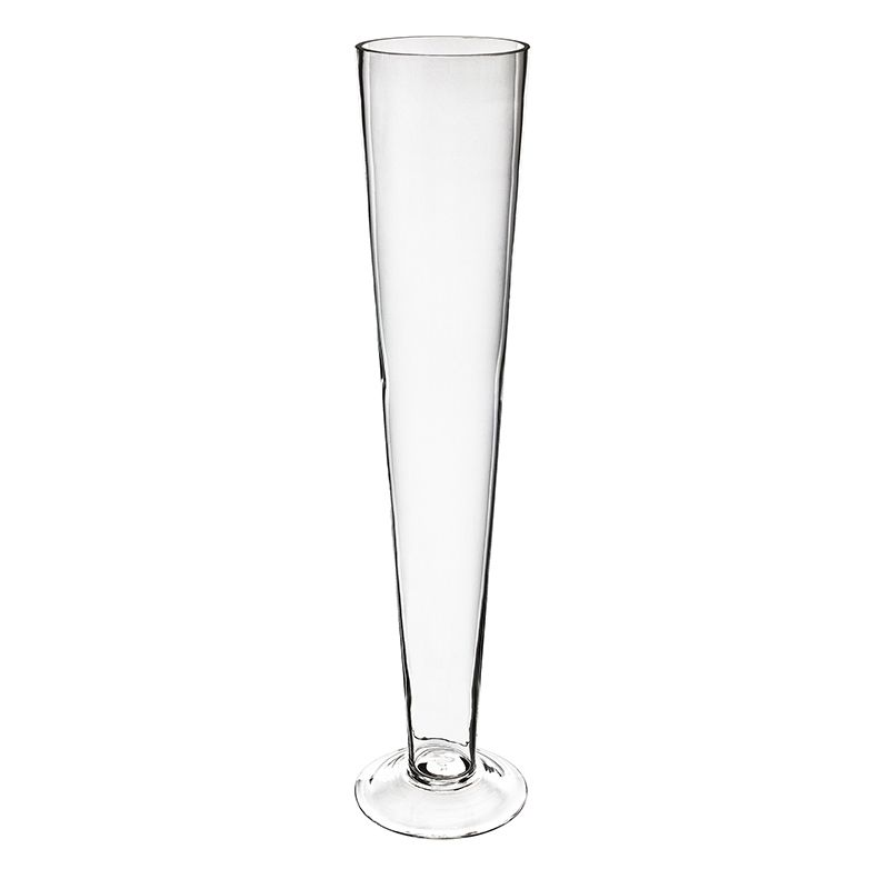 20 Inch Tall Clear Glass Trumpet Vase For Centerpiece Decor Glass