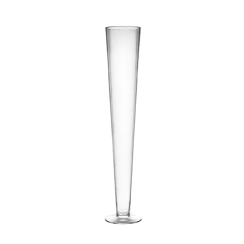 28 Clear Glass Trumpet Wedding Centerpiece Vase Glass Vases Depot