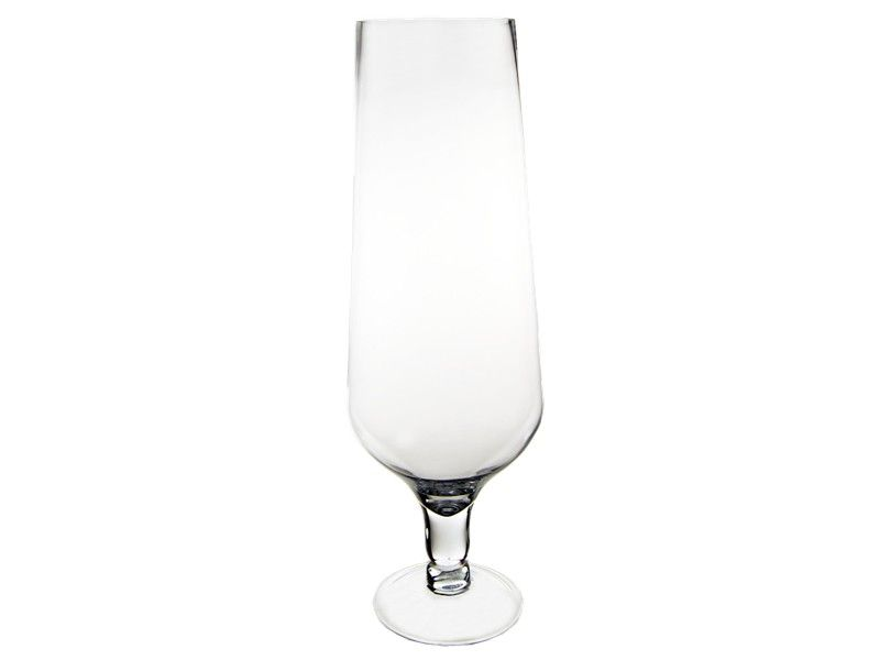 22 Inch Decorative Short Stem Glass Champagne Flute Hurricane Vase