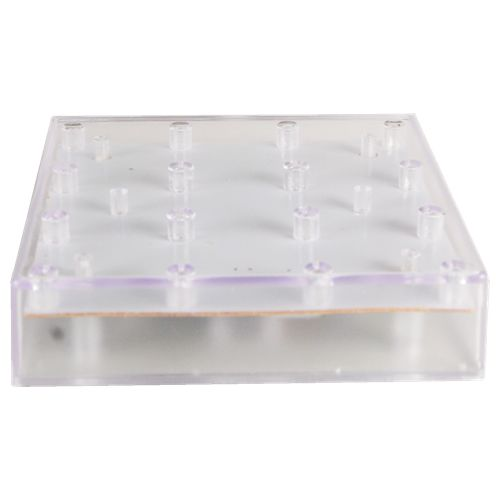 5x5 Led Square Vase Base White Light Glass Vases Depot