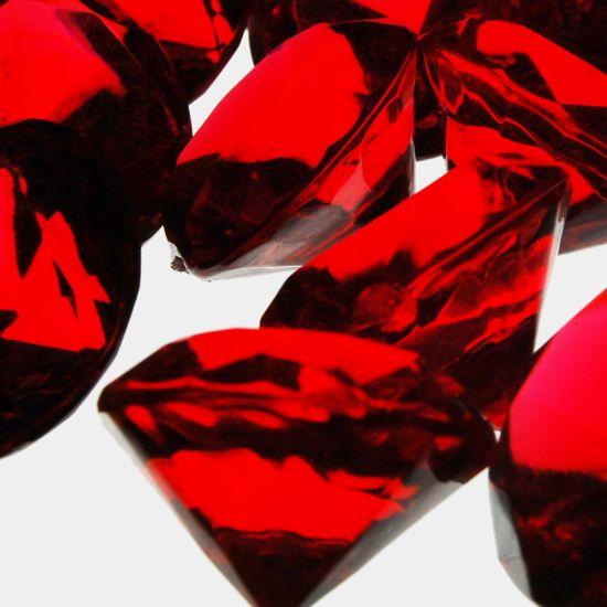 075 Red Acrylic Crystal Diamond Gemstone Vase Fillers Glass
