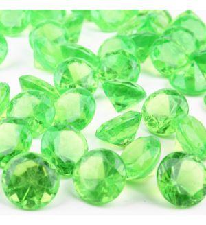 "1.2"" Green Acrylic Crystal Diamond Gemstone Vase Fillers"