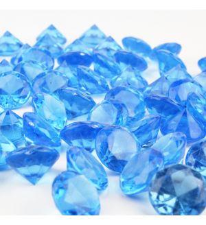 "1.2"" Light Blue Acrylic Crystal Diamond Gemstone Vase Fillers"