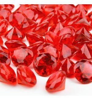 "1.2"" Red Acrylic Crystal Diamond Gemstone Vase Fillers"