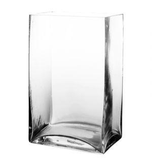 """9.5"""" Rectangular Glass Vase"""