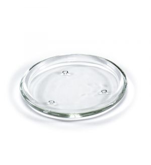"""6"""" Glass Candle Pillar Dish"""
