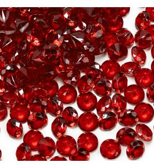 "0.75"" Red Acrylic Crystal Diamond Gemstone Vase Fillers"
