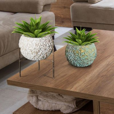 "12"" Leaf Planter with Stand"