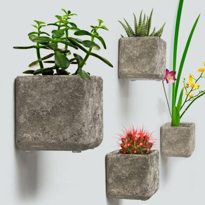 "5.5"" WALL HANGING CONCRETE PLANTER"