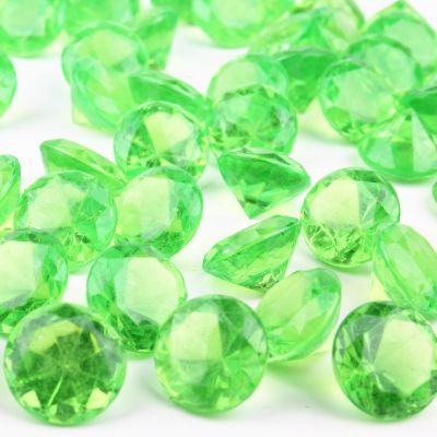"1.2"" Green Acrylic Crystal Diamond Gemstone Vase Fillers"