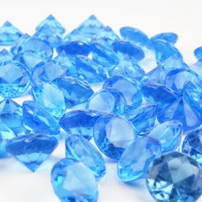 "1.2"" Light Blue Acrylic Crystal Diamond Gemstone Vase Fillers"