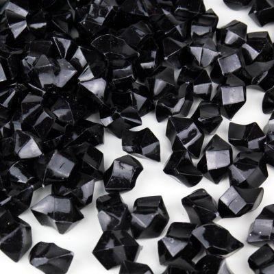 Black Acrylic Vase Filler Ice Rocks