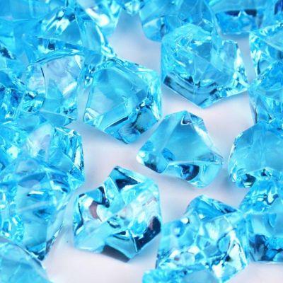 Blue Acrylic Crushed Ice Bowl Vase Fillers